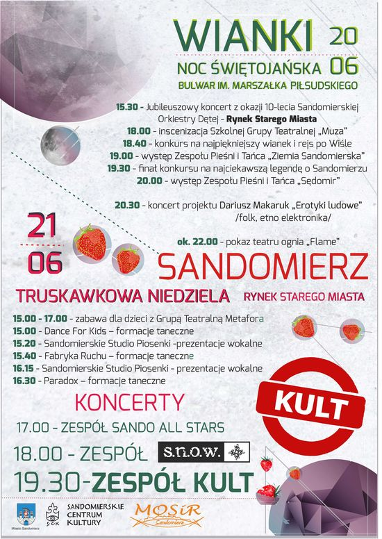 plakat Wianki i Truskawka 2015 www550
