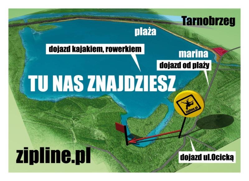 Rusza tyrolka nad Jeziorem Tarnobrzeskim