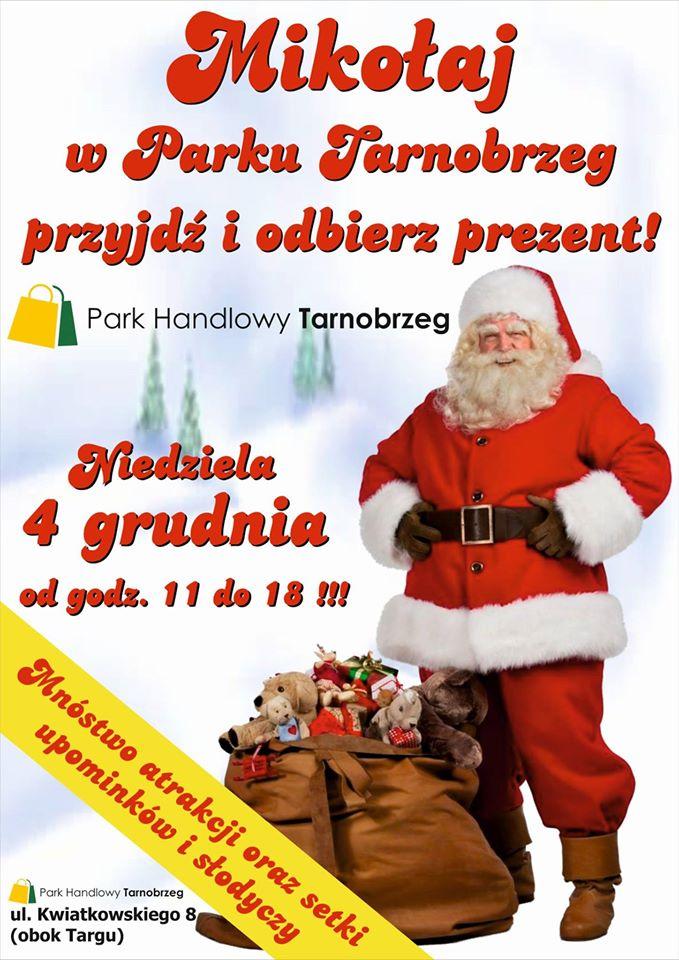 święty mikołaj w parku tarnobrzeg
