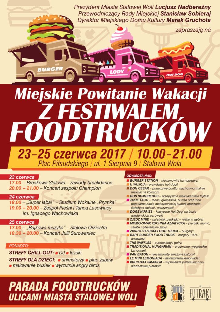 festiwal foodtracków w stalowej woli