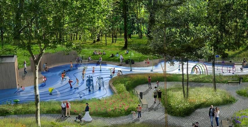 Prezydent Stalowej Woli Lucjusz Nadbereży zdradził, że w kierowanym przez niego magistracie od kilku miesięcy trwają prace nad stworzeniem nowej oryginalnej atrakcji dla dzieci. Wodny park zabaw miałby powstać w parku miejskim.