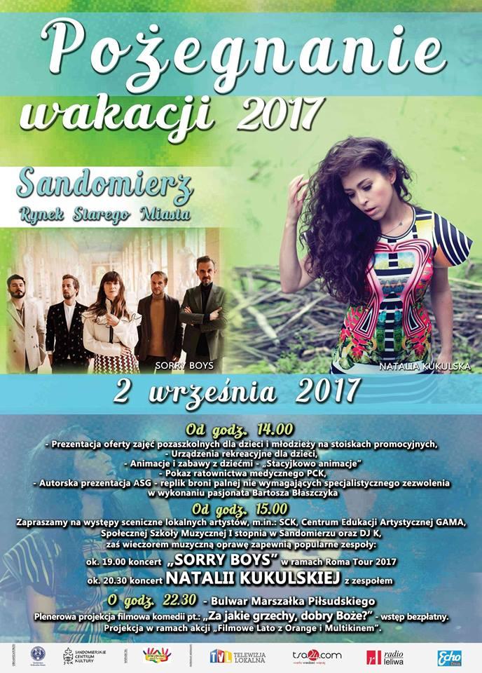 Koncert Natalii Kukulskiej na pożegnanie wakacji w Sandomierzu