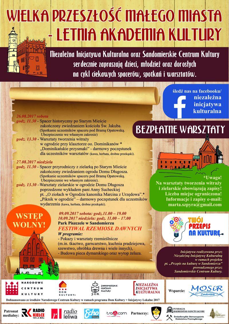 festiwal rzemiosł dawnych w sandomierzu