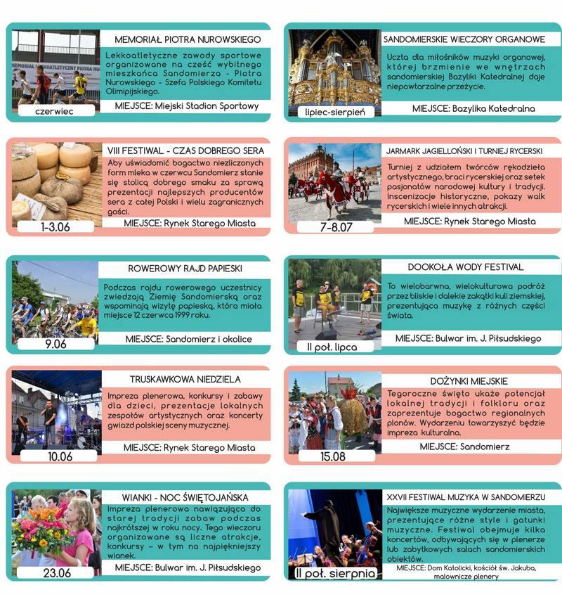 Kalendarz imprez w Sandomierzu 2018