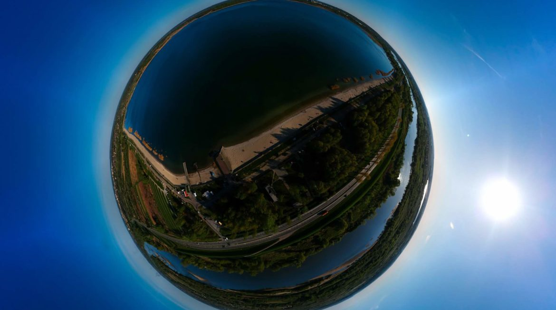 niezwykłe zdjęcie Jeziora Tarnobrzeskiego